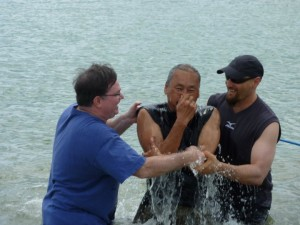 Baptisms at the Retreat!